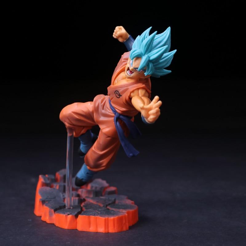 Goku Blue Fighting Pose Figure 15cm
