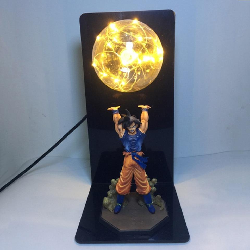 Dropship Dragon Ball Son Goku Strength Bomb LED Night Light Dragon Ball Z Table Lamp For Anime Fans Study Bedroom Decoration