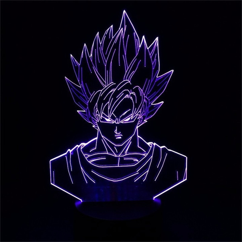 Goku Face Led Table Lamp