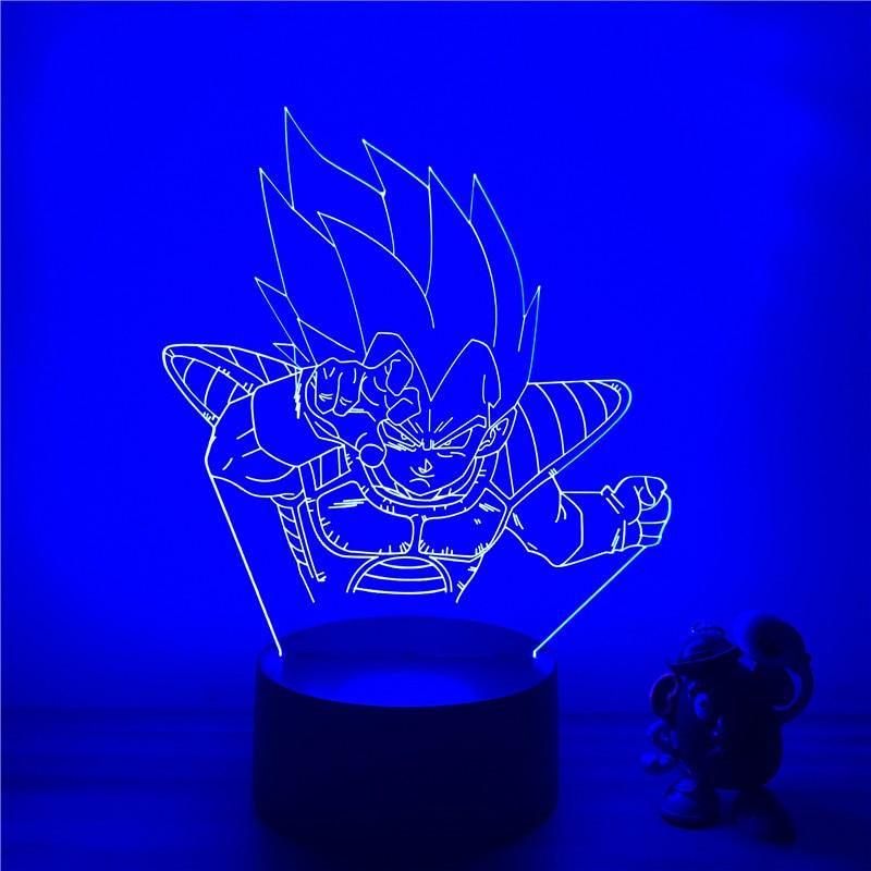 DBZ Vegeta Multi-Colored Table Lamp