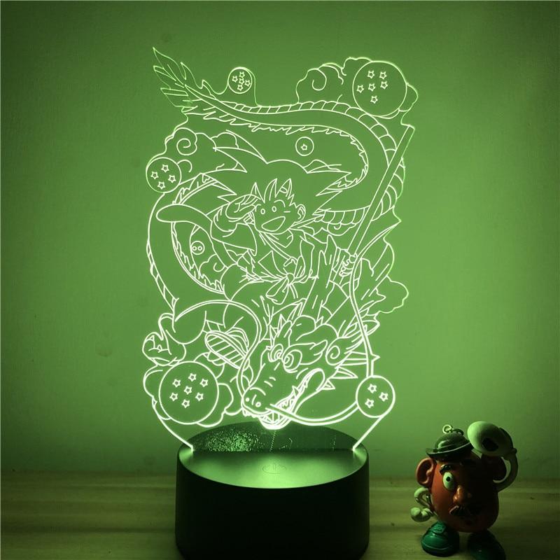 Goku Kid Shenron LED Table Lamp