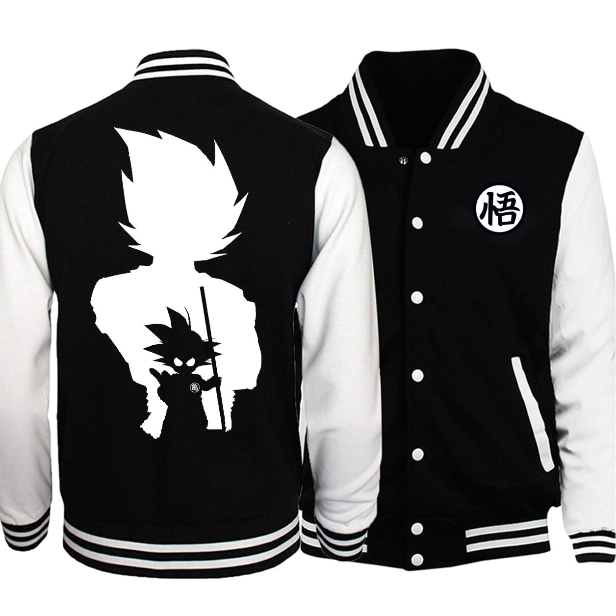 Dragon Ball Z Baseball Black-White Jacket